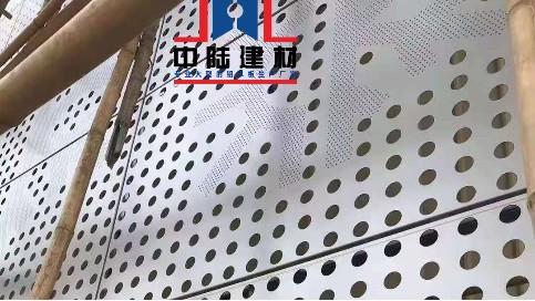 幕墙外墙穿孔铝单板-雪花造型