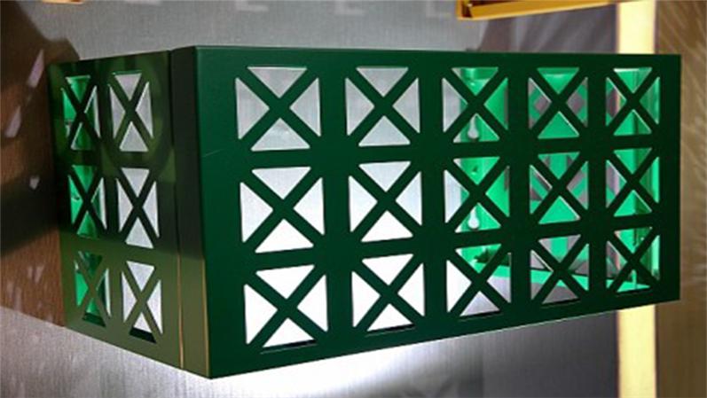 雕花冲孔铝单板空调罩