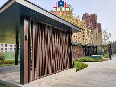 铝单板厂家实拍连廊铝单板案例 中陆建材