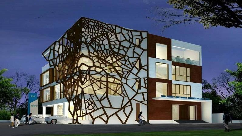 别墅外墙造型铝单板