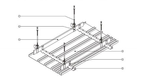勾搭式铝单板特点及安装示意图