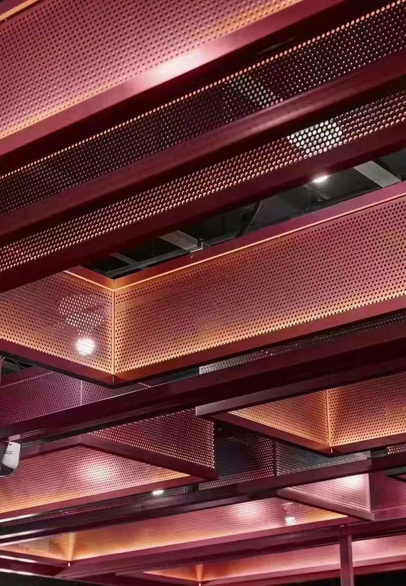 红色穿孔铝单板