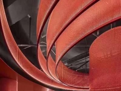 电影院红色穿孔铝单板
