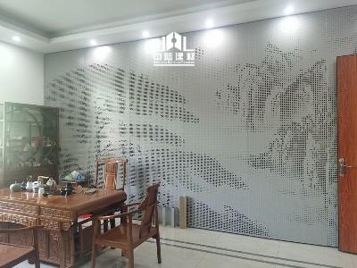 幕墙铝单板山水画效果展示
