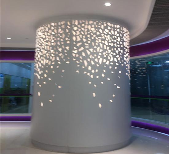 雕花包柱铝单板7