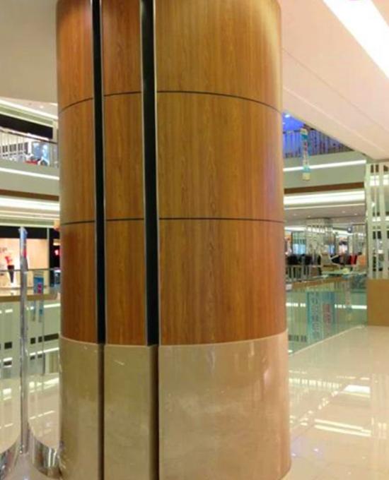 木纹包柱铝单板7