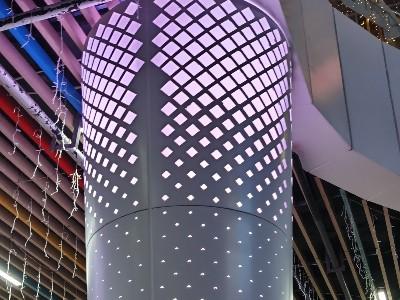 商场冲孔包柱铝单板
