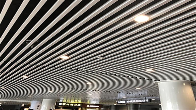 U型铝方通吊顶1
