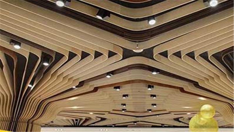 双曲镂空铝造型单板吊顶异形