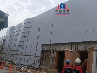 银灰色幕墙外墙铝单板  生产过程及安装现场实拍